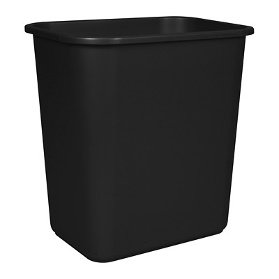Storex Desk-Size Wastebasket Container 100% POST CONSUMER - BLACK CAN USE WITH SHREDDERS