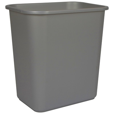Storex Desk-Size Wastebasket Container 100% POST CONSUMER - GRAY CAN USE WITH SHREDDERS