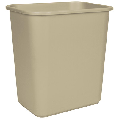 Storex Desk-Size Wastebasket Container 100% POST CONSUMER - BEIGE CAN USE WITH SHREDDERS