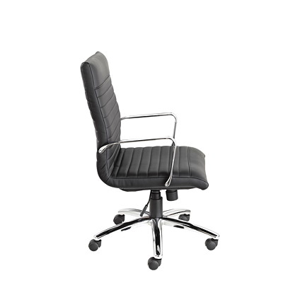Offices To Go Ultra High-Back Tilter Armchair, Black, Bonded Luxhide Leather BLACK LUXHIDE FULLY ASSEMBLED
