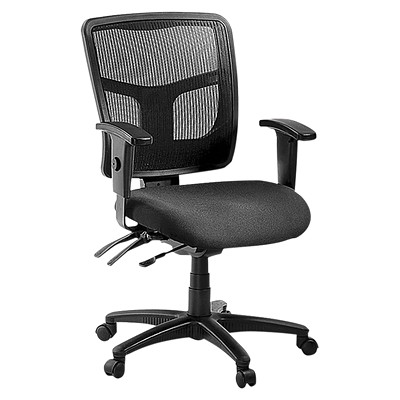 Lorell Ergomesh Chair BLACK FABRIC/MESH BACK