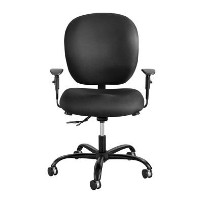 Safco Alday 24/7 Intensive-Use Ergonomic Task Chair, Black, Fabric  POSTURE LOCK  500LB WT CAP BLACK FABRIC