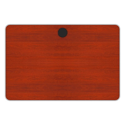 Plateau de table rectangulaire série Tucana Star Quality, cerisier henné, 36poL x 24poP x 1poH DESSUS 36X24 BASE VENDUE SÉP. CERISER HENA