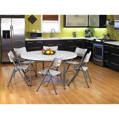 """Office Star Work Smart BT60Q 60"""" Round Resin Multi Purpose Table LIGHTWEIGHT CONSTRUCTION IDEAL FOR INDOOR/OUTDOOR USE"""