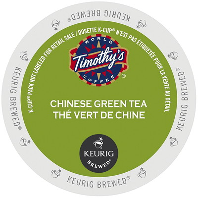 Timothy's Chinese Green K-Cup Tea Pods 24/BX - USE IN KEURIG SINGLE CUP COFFEEMAKERS