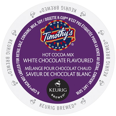 TIMOTHY K-CUP WHITE HOT CHOCOLATE BX/24  USE ONLY IN KEURIG SINGLE CUP COFFEE MAKER