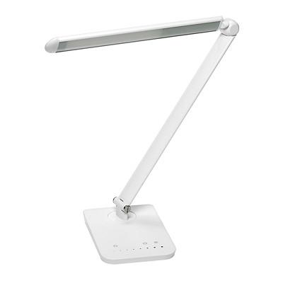 Safco Vamp LED White Desk Lamp 9W  550 LUMENS  8 LIGHT LEVELS USB CHARGING PORT