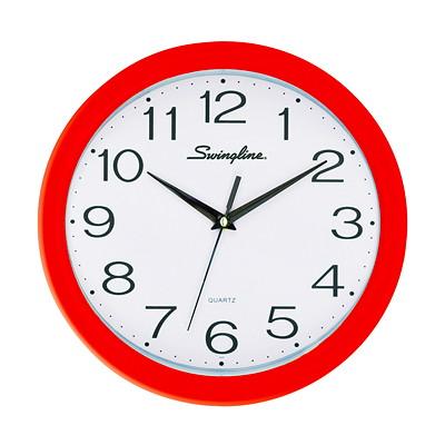 Swingline Fashion Clock, Red
