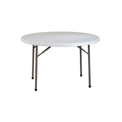"Office Star Work Smart BT48Q 48"" Round Resin Multi Purpose Table LIGHTWEIGHT CONSTRUCTION IDEAL FOR INDOOR/OUTDOOR USE"
