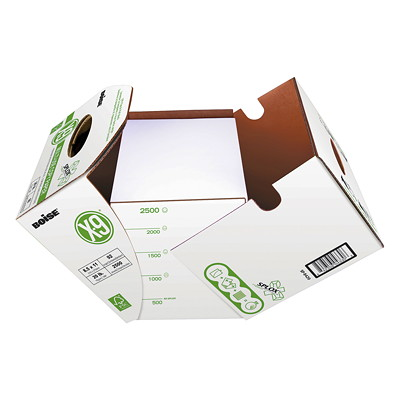 """Boise X-9 Multi-Use Copy Paper with SPLOX Speed Loading Box, FSC Certified, 20 lb., 8 1/2"""" x 11"""", Case  COPY PAPER 8.5 X 11"""" 2500 PAGES PER CARTON"""