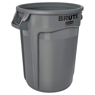 Rubbermaid Brute Container W/O LID  GREY