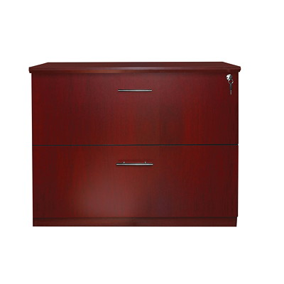 Mayline Medina 2-Drawer Lateral File MAHOGANY LAMINATE LETTER AND LEGAL FILING