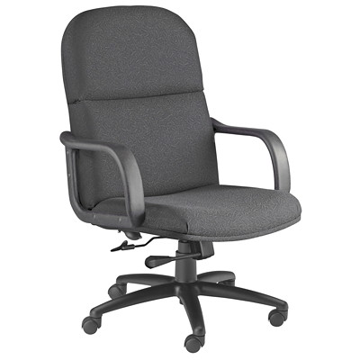 Mayline Comfort Series Big and Tall Executive Chair SUPPORTS UP TO 450 LBS GRAY FABRIC