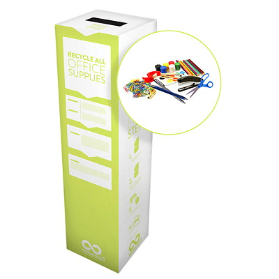 TerraCycle Office Supplies Zero Waste Box RECYCLE USED OFFICE SUPPLIES BOX DIMENSIONS: 10 X 10 X 18