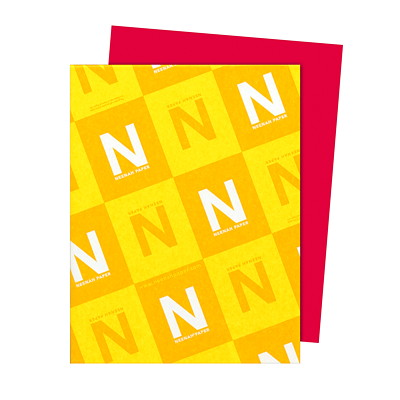 Neenah Astrobrights Paper 500/PK RE-ENTRY RED 30% PCW FSC & GREEN SEAL CERTIFIED