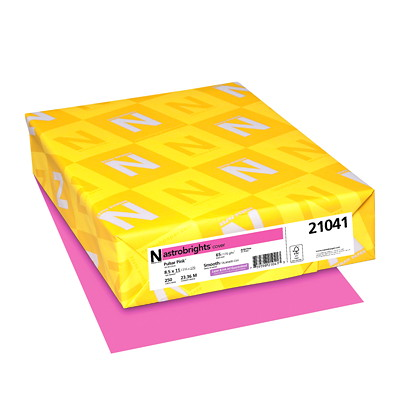 Neenah Astrobrights Cover Paper 250/PK PULSAR PINK