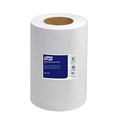 Tork 2-Ply Advanced Soft Mini Centerfeed Hand Paper Towels, White, 266 Sheets/RL, 12/CS RPULL TOWELS  2-PLY  266 CT  8 3/10X262  WHT