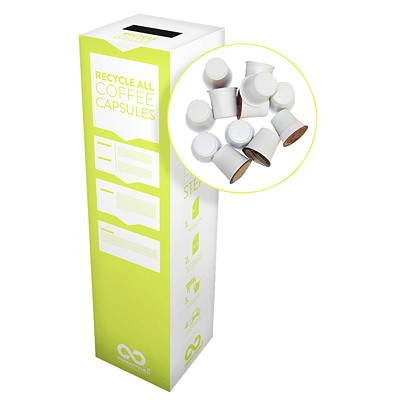 TerraCycle K-Cup Recycling System RECYCLE USED BEVERAGE CAPSULES SML BOX DIM: 10 X 10 X 18