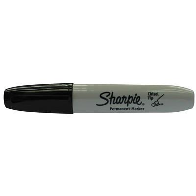 Sharpie Permanent Marker, Black, Chisel Tip