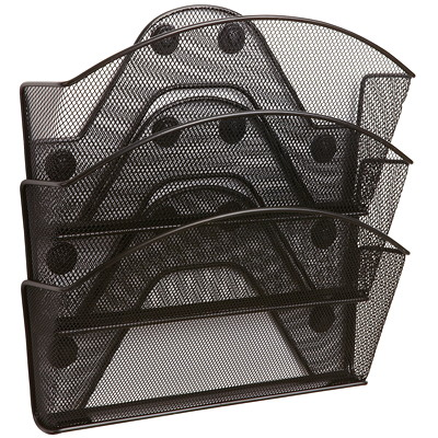 "Safco Magnetic Mesh File Pocket, Triple-file TRIPLE FILE POCKETS SET OF 3 13""W X 4 1/4""D X 13 1/2""H"
