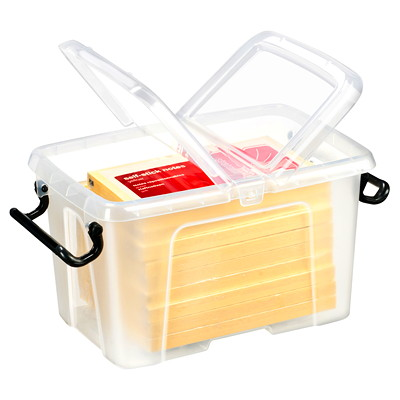 CEP Strata Polypropylene Smart Box 6 LITRE STORAGE CAPACITY SPLIT LID WITH LOCKING HANDLES
