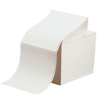 """Data Plain Continuous Computer Paper, White, 9 1/2"""" x 11"""", 1 Part, 2,700 Sheets/CT 20 LB  1 PART"""
