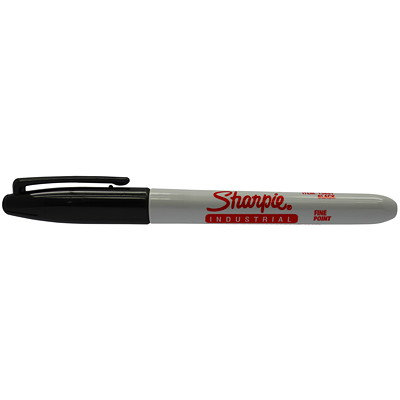 Sharpie Industrial Permanent Markers, Black, Fine Tip PERMANENT