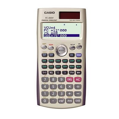 Calculatrice financière à affichage à 4 lignes FC-200V Casio AFFICHAGE QUATRE LIGNE FONCTIONS FINANCIèRES AVANCéE