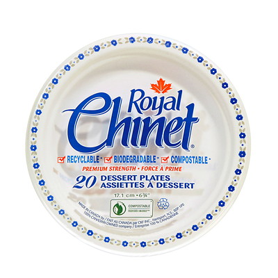 Royal Chinet Plates ROUND  PACK OF 20