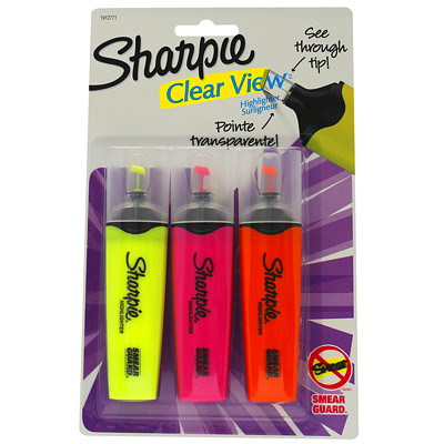 Sharpie Clear View Highlighters ASSORTED