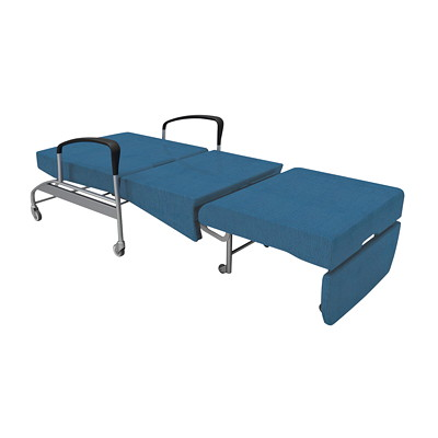 healtHcentric Aloe Sleeper Chair for Healthcare Environments	 BLUE VINYL  EASY OPEN/CLOSE IC+ AND SEALED SEAT