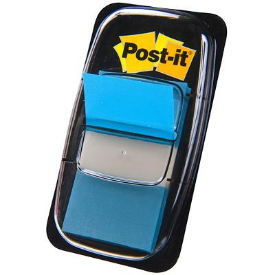"Post-it Standard Flags, Bright Blue, 1"" x 1 7/10"", 50/PK 50 FLAGS/EACH 3M 1X1.7 IN"