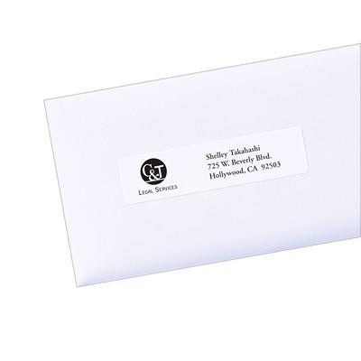 "Avery 5261 Easy Peel Address Labels, White, 1"" x 4"", 20 Labels/Sheet, 25 Sheets/PK PERM. POP-UP EDGE  WHITE 4""X1""  500 LBLS/PKG LASER"