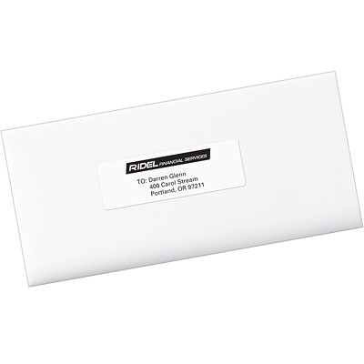 "Avery White 1"" x 4"" Easy Peel Address Labels 20/SHEET PERMANENT ADHESIVE AVERY 100 SHEETS/BX 2000/BX"