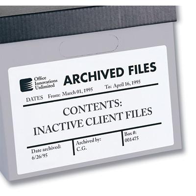 """Avery 6573 Permanent ID Labels, White, 8 1/8"""" x 5"""", 2 Labels/Sheet, 15 Sheets/PK 8-1/8X5 30/PK"""