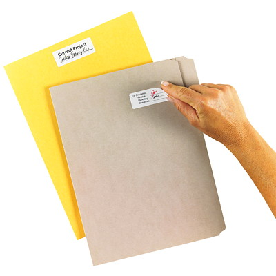 """Avery 6498 Removable ID Labels, White, 2 5/8"""" x 1"""", 30 Labels/Sheet, 10 Sheets/PK REPOSITIONAL 2 5/8 X 1 30/SHT WHITE"""