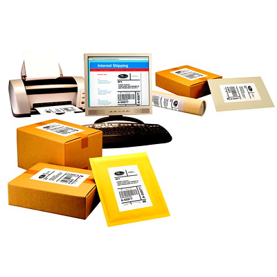 Avery Shipping And Mailing Labels With TrueBlock Technology  WHITE  2 LBLS/SHT  100 LBL/BOX LASER COMPATIBLE