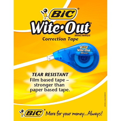 Bic Wite-Out EZcorrect Correction Tape 10/PK