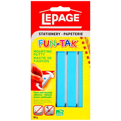LePage Fun-Tak Mounting Putty REMOVEABLE NON-TOXIC WON'T DRY OUT