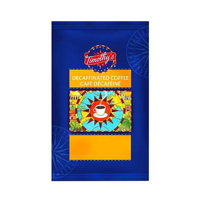 Timothy's Ground Coffee, Decaffeinated Colombian, 2.5 oz, 24/BX RAINFOREST ALLIANCE - GROUND