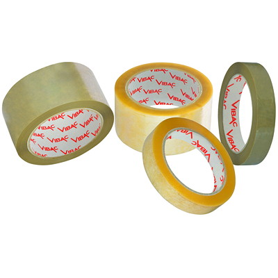 Vibac Industrial Grade Clear Packing Tape CARTON SEALING TAPE  HOT MELT 6 ROLL/PACK