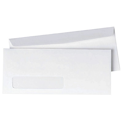 Grand & Toy White Business Envelopes with Address Window  24LB OPEN SIDE 50% RECYCLED 500/BX 30%POST-CONSUMER WASTE