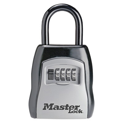 Master Lock Portable Combination Key Safe W/4 CHANGEABLE COMBO DIALS EASY TO RESET COMBINATION