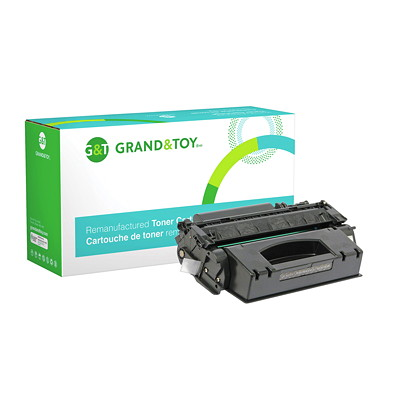 Grand & Toy Remanufactured HP 53X Black High Yield Toner Cartridge (Q7553X) L/J M2727 MFP; P2010  P2014 (53X) H/Y 7 000  RPL # 97691