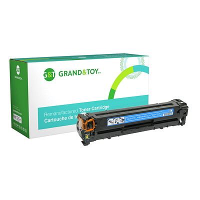 Grand & Toy Remanufactured HP 125A Cyan Standard Yield Toner Cartridge (CB541A) CP1215 CP1518NI CM1312NFI 1 400 PG YLD  RPL SKU# 97721
