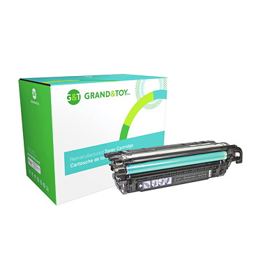 Grand & Toy Reman Toner HP CE260A Black Standard Yield LASERJET ENTERPRISE CP4025DN 8 500 PG YLD  RPL SKU# 98321
