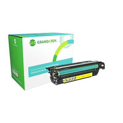 Grand & Toy Reman Toner HP CE262A Yellow Standard Yield LASERJET ENTERPRISE CP4025DN 11 000 PG YLD  RPL SKU# 98325