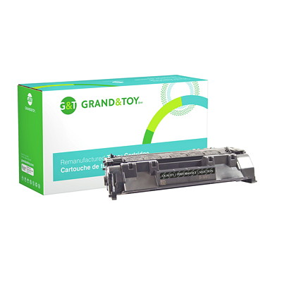 Grand & Toy Remanufactured HP 80A Black Standard Yield Toner Cartridge (CF280A) HP LJ PRO M401 AND M425 SERIES YIELD 2700 (CF280A)