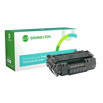 Grand & Toy Reman Toner HP Q5949A Black Standard Yield 1160  1320  3390 AIO  3392 (49A) YIELD 2 500 RPL #97639