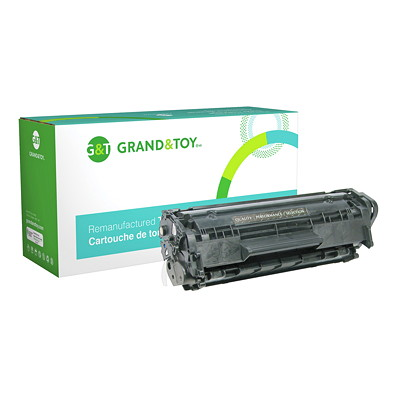 Grand & Toy Reman Toner HP Q2612A Black Standard Yield L/J 1010  1012  1022  3015AIO (12A) YLD 2 000 RPL #99268